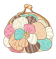 pretty purse with pastel colors vector image