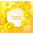 Abstract yellow Floral Greeting card vector image