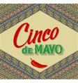 Cinco De Mayo lettering design on a ethnic vector image