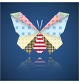 Paper origami colorful butterfly vector image