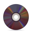 Realistic compact disc on white background vector image