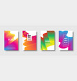 abstract trendy geometric background with liquid vector image vector image