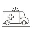 ambulance - icon vector image