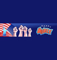 america independence day banner vector image
