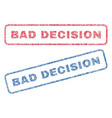 Bad decision textile stamps