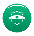 badge classic icon green vector image vector image
