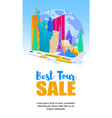 banner advertising sale best tour vector image