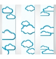 Banners with clouds frames vector image vector image