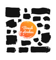 black brush strokes - set isolated design vector image vector image