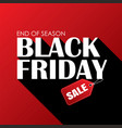 black friday sale banner white text on red vector image vector image