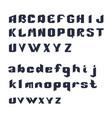 bold alphabet font vector image
