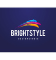 Bright Style Logo vector image
