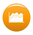 business graph icon orange vector image vector image