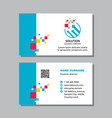 Business visit card template with logo - concept
