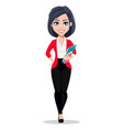 business woman manager banker vector image