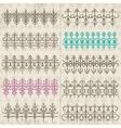 Calligraphy decorative borders ornamental rules di vector image vector image