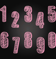Chalkboard Numbers set Hand Draw Chalk Numbers