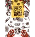 christmas food vector image vector image