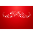 Christmas new year hipster mustache greeting card vector image