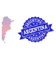 composition of gradiented dotted map of argentina vector image