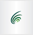 dark green wave logo abstract icon vector image vector image