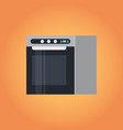 electric kitchen stove icon home appliances vector image