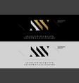 elegant alphabet letters font set modern vector image vector image