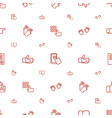 finger icons pattern seamless white background vector image vector image