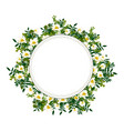 flower frame with white chamomile vector image