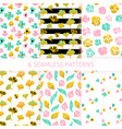 flower trendy seamless patterns vector image vector image