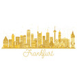 frankfurt germany city skyline golden silhouette vector image vector image