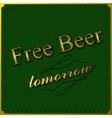Free beer background vector image