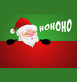 funny cartoon a peeping santa claus vector image