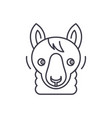 funny llama line icon concept funny llama vector image vector image