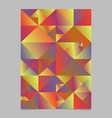 geometrical abstract multicolored triangle page vector image vector image