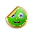 golden smiling face sticker for custom design vector image vector image