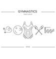Gymnastics Flyer Concept vector image vector image