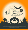 halloween party silhuette design template vector image vector image