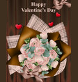 happy valentine day bouquet vector image vector image