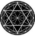 hexagram vector image