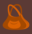 icon in flat design fashion clothes handbag vector image