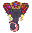 Indian elephant face vector image
