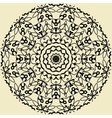 Indian mandala in outlines on yellow background vector image vector image