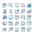infographic elements flat set vector image vector image