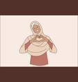 islam women and love concept vector image