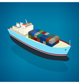 Isometric container ship on the water vector image