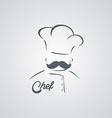 italian mustache guy master chef vector image vector image