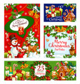 merry christmas celebration greeting cards vector image vector image