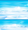 northern landscap vector image vector image