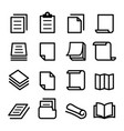 paper icon set vector image